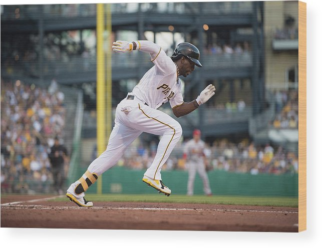 Pnc Park Wood Print featuring the photograph Andrew Mccutchen by Rob Tringali