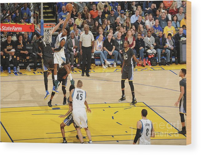 Nba Pro Basketball Wood Print featuring the photograph Andrew Wiggins by Andrew D. Bernstein
