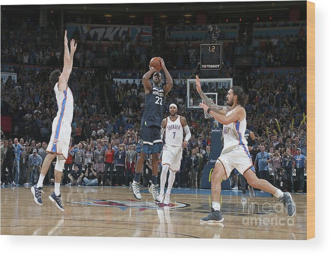 Nba Pro Basketball Wood Print featuring the photograph Andrew Wiggins by Layne Murdoch