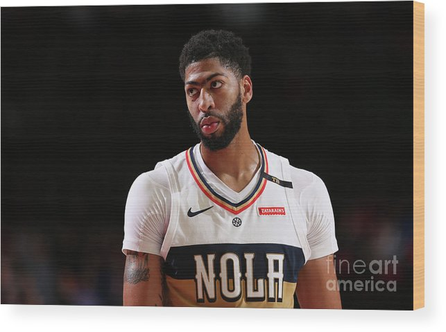 Nba Pro Basketball Wood Print featuring the photograph Anthony Davis by Sam Forencich