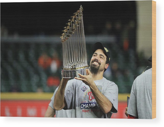 American League Baseball Wood Print featuring the photograph Anthony Rendon by Mike Ehrmann