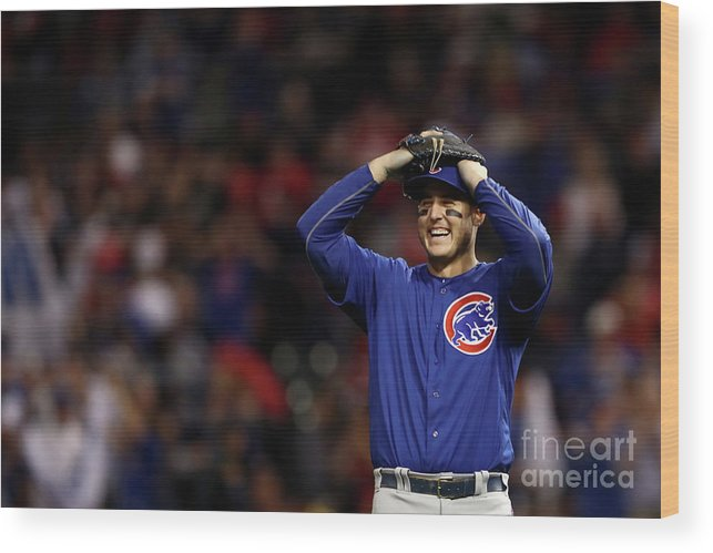 Three Quarter Length Wood Print featuring the photograph Anthony Rizzo by Elsa