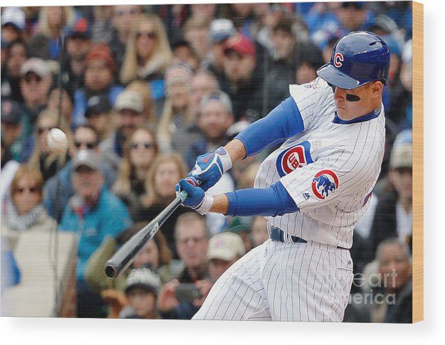 Three Quarter Length Wood Print featuring the photograph Anthony Rizzo by Jon Durr