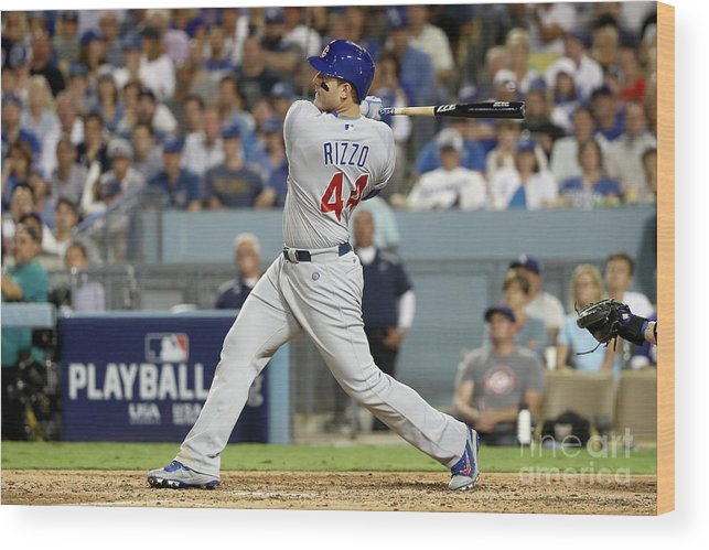 People Wood Print featuring the photograph Anthony Rizzo by Sean M. Haffey