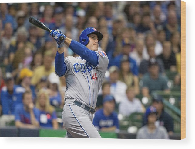 People Wood Print featuring the photograph Anthony Rizzo by Tom Lynn