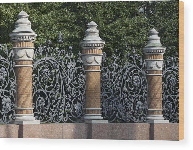 Architectural Feature Wood Print featuring the photograph Architectural detail in Russia by Fotosearch