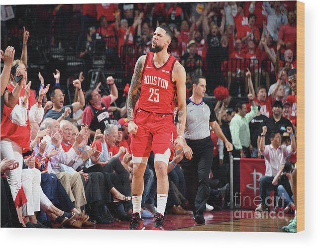 Playoffs Wood Print featuring the photograph Austin Rivers by Andrew D. Bernstein