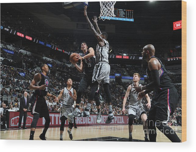 Nba Pro Basketball Wood Print featuring the photograph Austin Rivers by Mark Sobhani