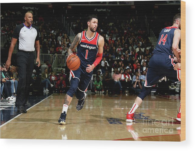 Nba Pro Basketball Wood Print featuring the photograph Austin Rivers by Stephen Gosling