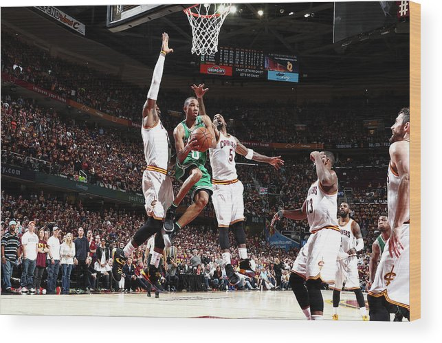 Playoffs Wood Print featuring the photograph Avery Bradley by Nathaniel S. Butler
