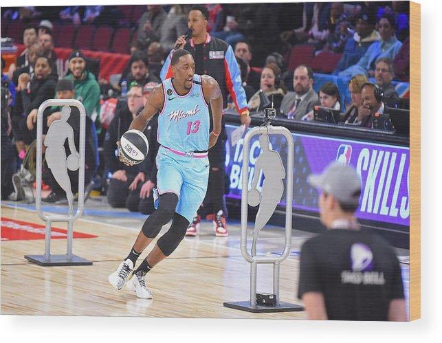 Nba Pro Basketball Wood Print featuring the photograph Bam Adebayo by Bill Baptist