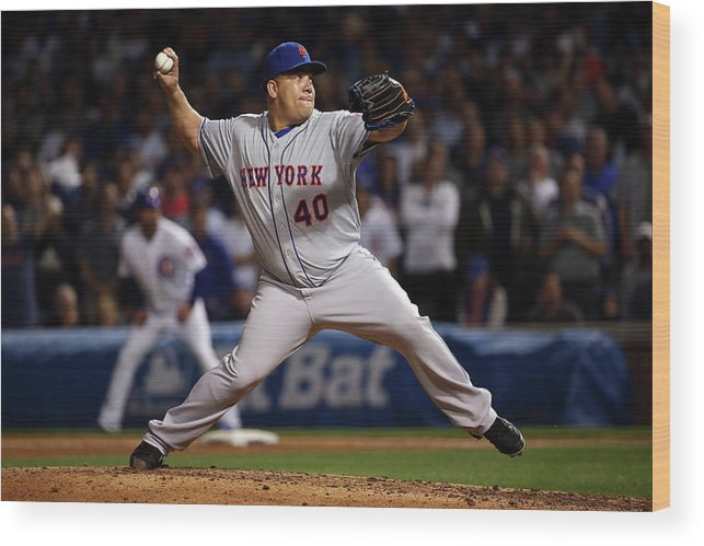People Wood Print featuring the photograph Bartolo Colon by Jonathan Daniel