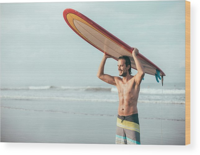 Young Men Wood Print featuring the photograph Beach Happiness by South_agency