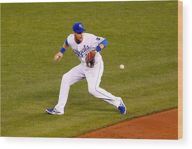 Game Two Wood Print featuring the photograph Ben Zobrist by Kyle Rivas