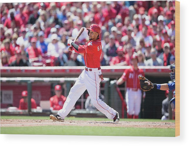 Great American Ball Park Wood Print featuring the photograph Billy Hamilton by Taylor Baucom