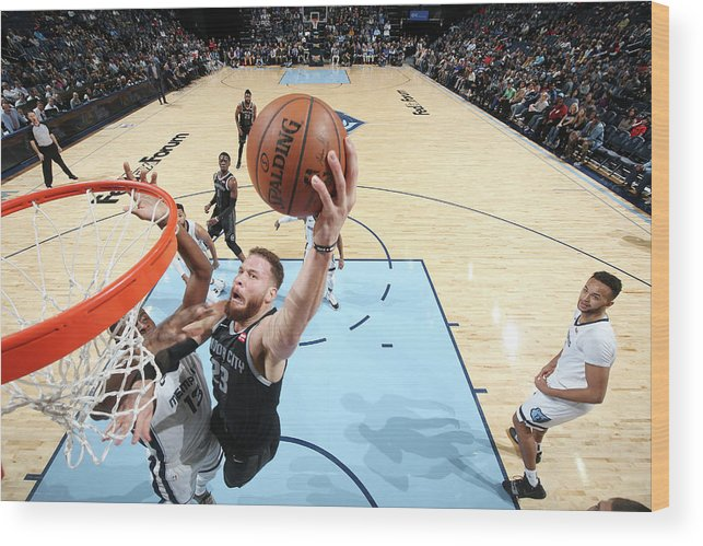 Nba Pro Basketball Wood Print featuring the photograph Blake Griffin by Joe Murphy