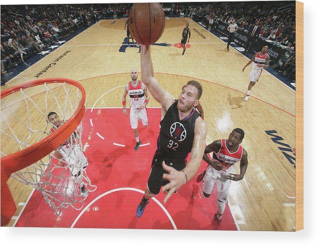 Nba Pro Basketball Wood Print featuring the photograph Blake Griffin by Ned Dishman