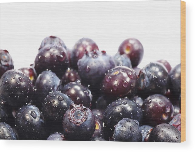 Heap Wood Print featuring the photograph Blueberries by Pejft