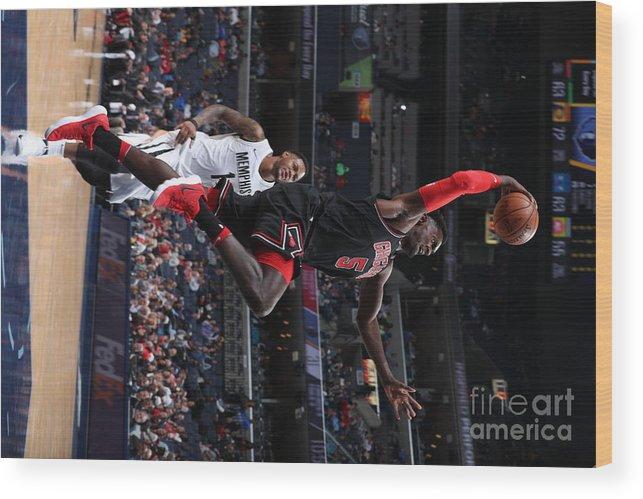Nba Pro Basketball Wood Print featuring the photograph Bobby Portis by Joe Murphy