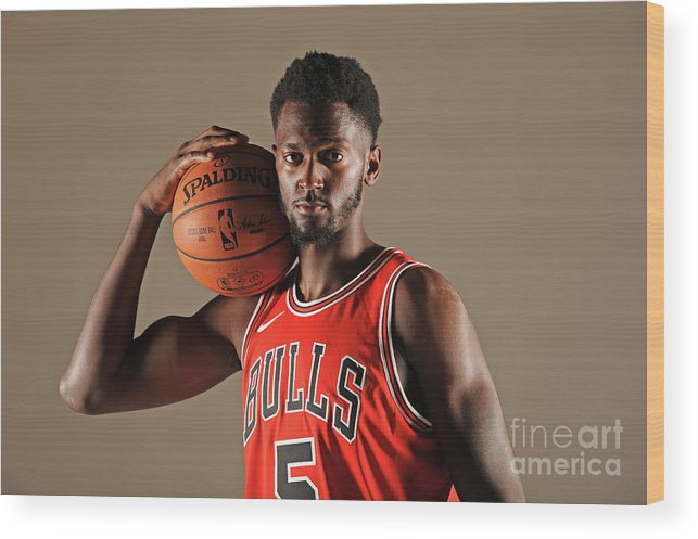 Media Day Wood Print featuring the photograph Bobby Portis by Randy Belice