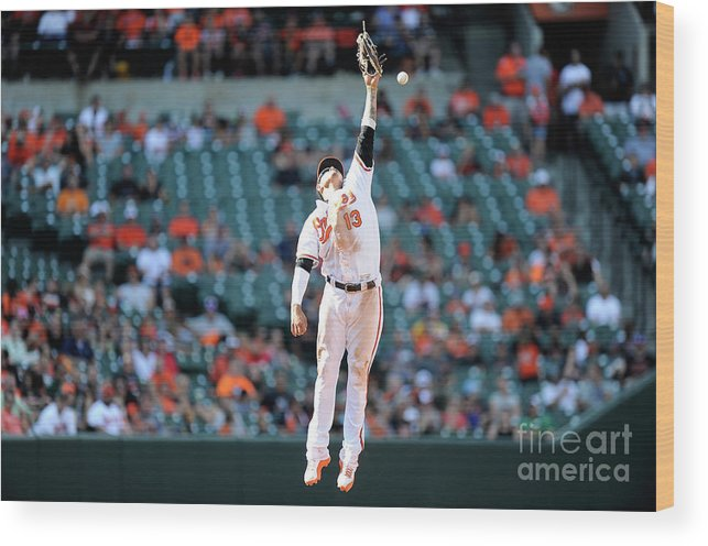 People Wood Print featuring the photograph Boog Powell and Manny Machado by Greg Fiume