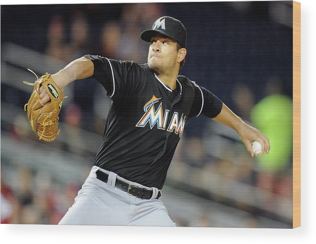 Second Inning Wood Print featuring the photograph Brad Hand by Greg Fiume