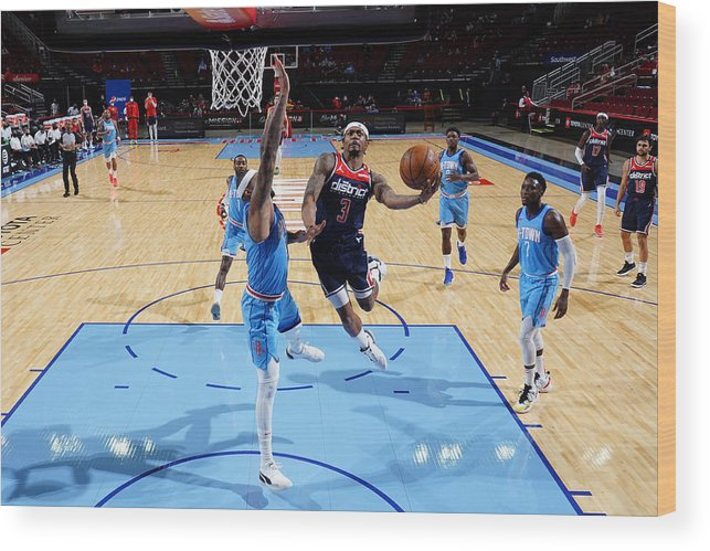 Nba Pro Basketball Wood Print featuring the photograph Bradley Beal by Cato Cataldo