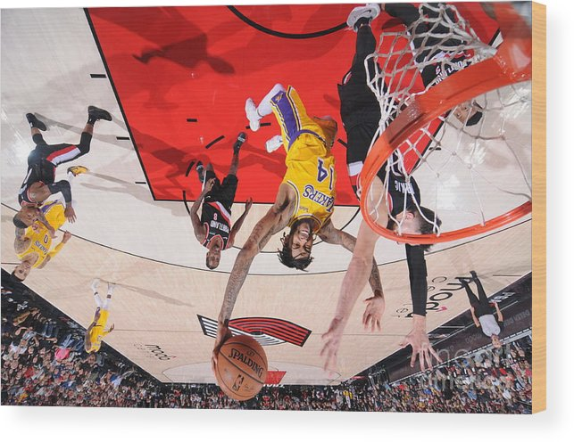 Nba Pro Basketball Wood Print featuring the photograph Brandon Ingram by Sam Forencich