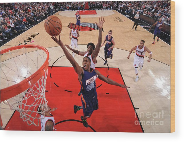 Nba Pro Basketball Wood Print featuring the photograph Brandon Knight by Sam Forencich