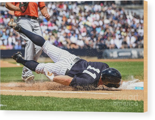 People Wood Print featuring the photograph Brett Gardner by Mark Brown