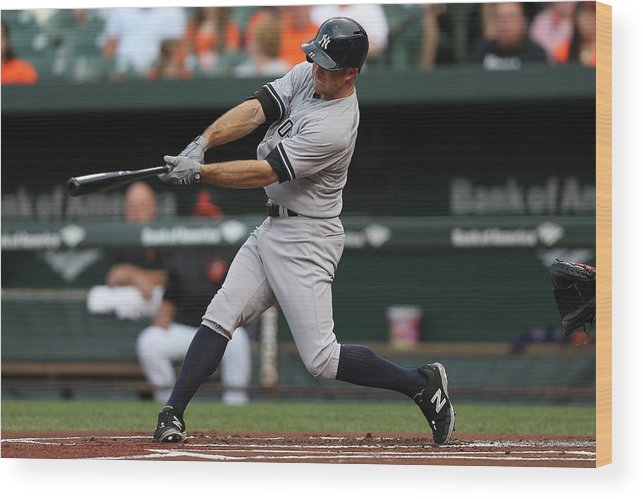 People Wood Print featuring the photograph Brett Gardner by Patrick Smith