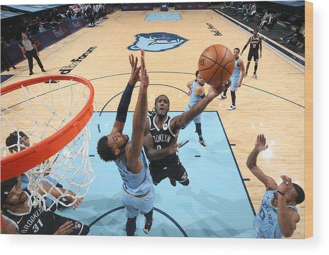 Nba Pro Basketball Wood Print featuring the photograph Brooklyn Nets v Memphis Grizzlies by Joe Murphy