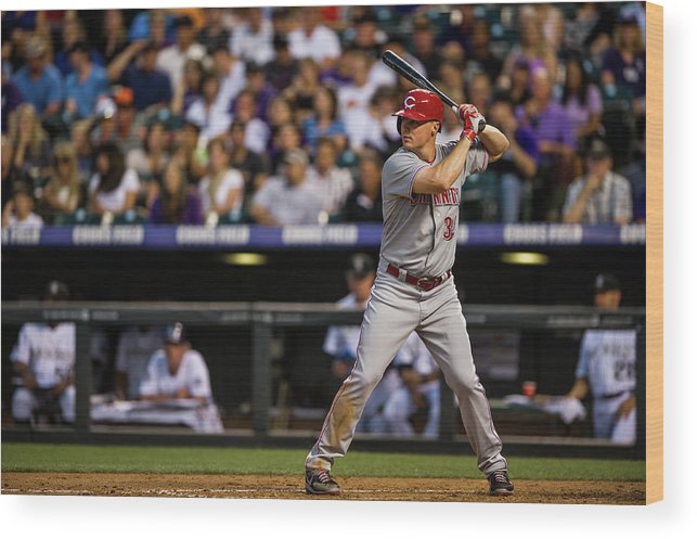 National League Baseball Wood Print featuring the photograph Bruce Fields by Dustin Bradford