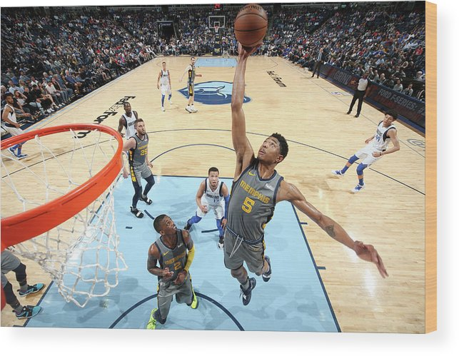 Nba Pro Basketball Wood Print featuring the photograph Bruno Caboclo by Joe Murphy