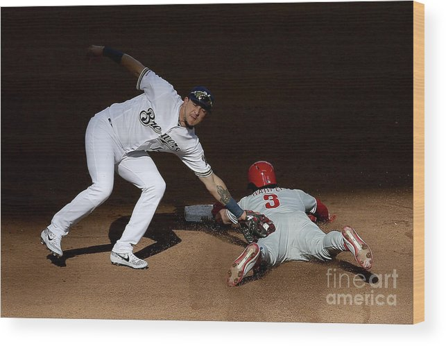 People Wood Print featuring the photograph Bryce Harper by Dylan Buell
