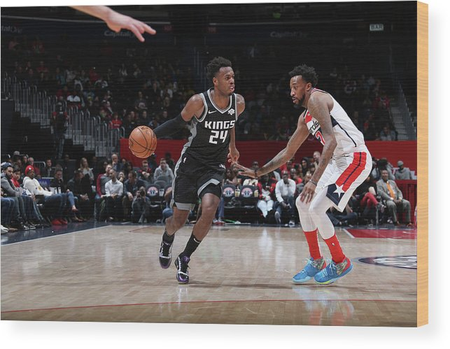 Nba Pro Basketball Wood Print featuring the photograph Buddy Hield by Stephen Gosling