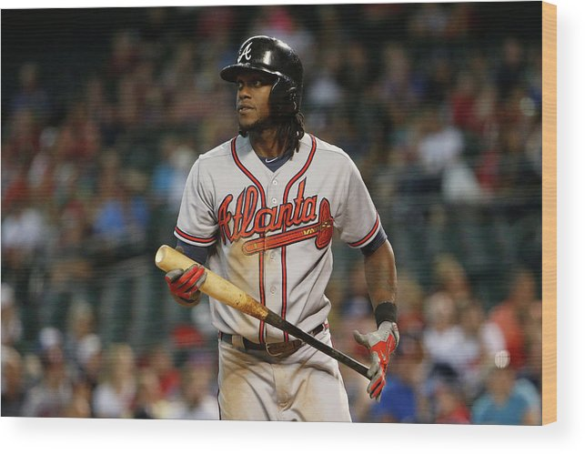 Three Quarter Length Wood Print featuring the photograph Cameron Maybin by Christian Petersen