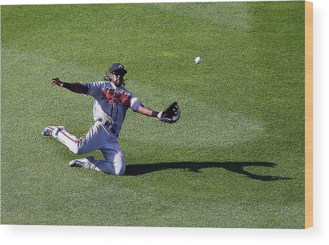 People Wood Print featuring the photograph Cameron Maybin by Jim Mcisaac