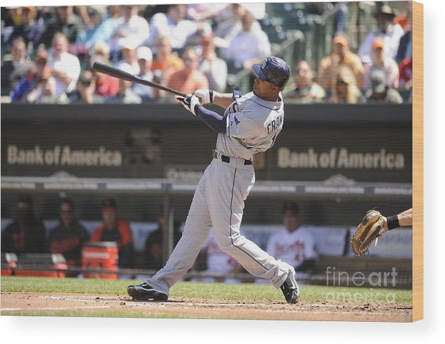 American League Baseball Wood Print featuring the photograph Carl Ray by Mitchell Layton