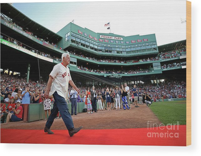 People Wood Print featuring the photograph Carl Yastrzemski by Maddie Meyer