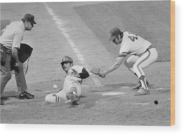 American League Baseball Wood Print featuring the photograph Carl Yastrzemski by Ronald C. Modra/sports Imagery