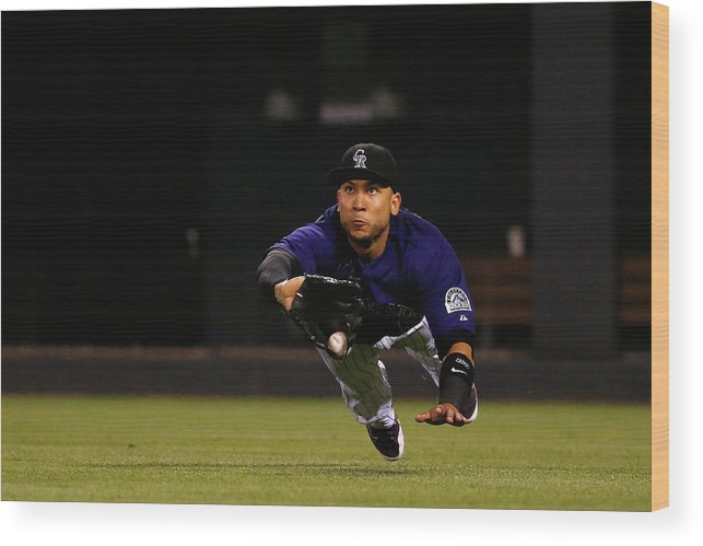 People Wood Print featuring the photograph Carlos Gonzalez and Pete Kozma by Doug Pensinger