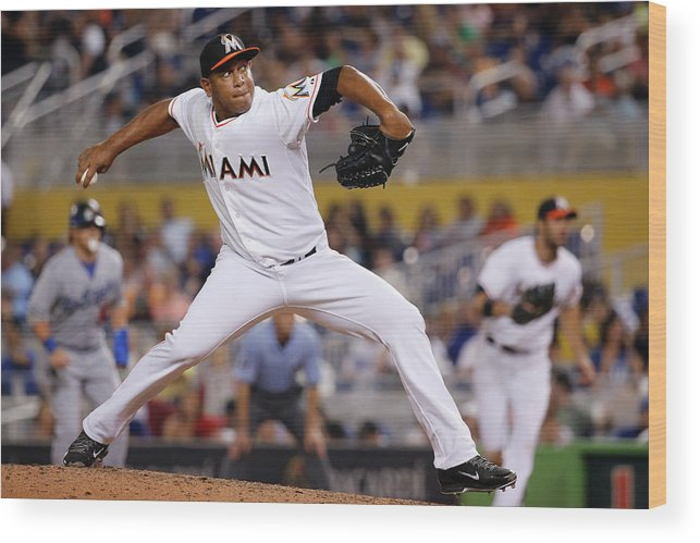 Baseball Pitcher Wood Print featuring the photograph Carlos Marmol by Rob Foldy