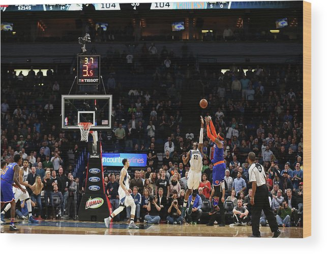 Nba Pro Basketball Wood Print featuring the photograph Carmelo Anthony by Jordan Johnson