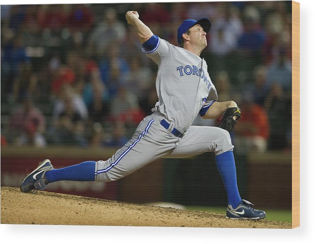 Ninth Inning Wood Print featuring the photograph Casey Janssen by Cooper Neill