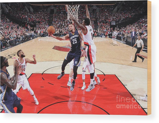 Nba Pro Basketball Wood Print featuring the photograph Chandler Parsons by Sam Forencich
