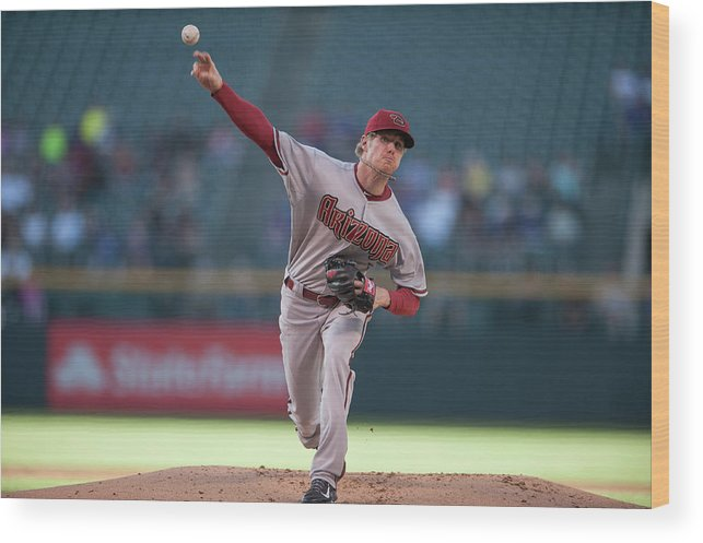Baseball Pitcher Wood Print featuring the photograph Chase Anderson by Dustin Bradford