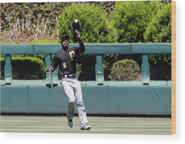 People Wood Print featuring the photograph Chase Utley and Starling Marte by Brian Garfinkel