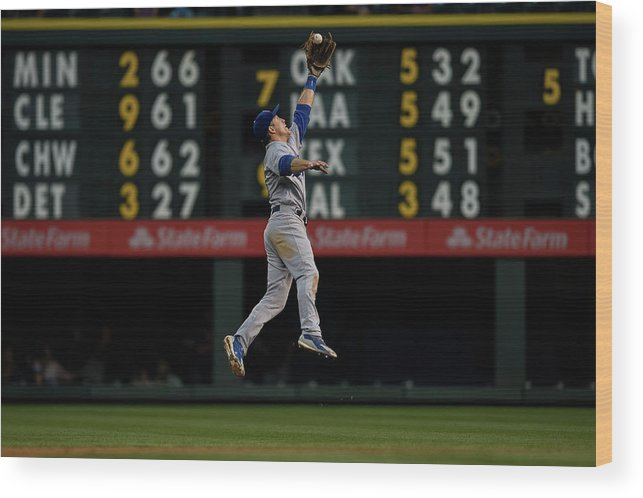 People Wood Print featuring the photograph Chase Utley by Dustin Bradford