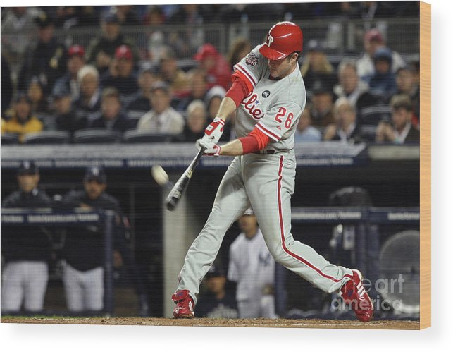 People Wood Print featuring the photograph Chase Utley by Jed Jacobsohn